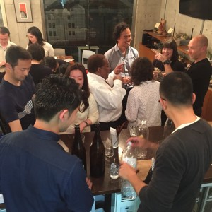 Guests drank through two 720 ml and five 1.8 L bottles of sweet potato shochu.