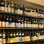 Kokuto shochu on bar shelves